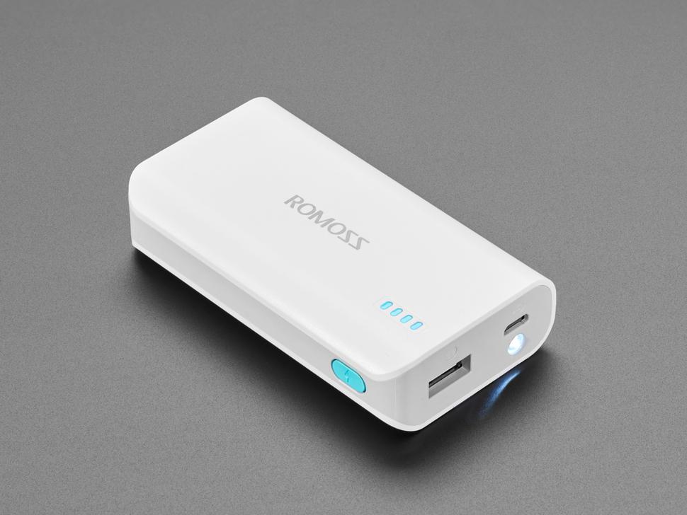 USB Battery Pack for Raspberry Pi - 5000mAh - 5V @ 2.1A