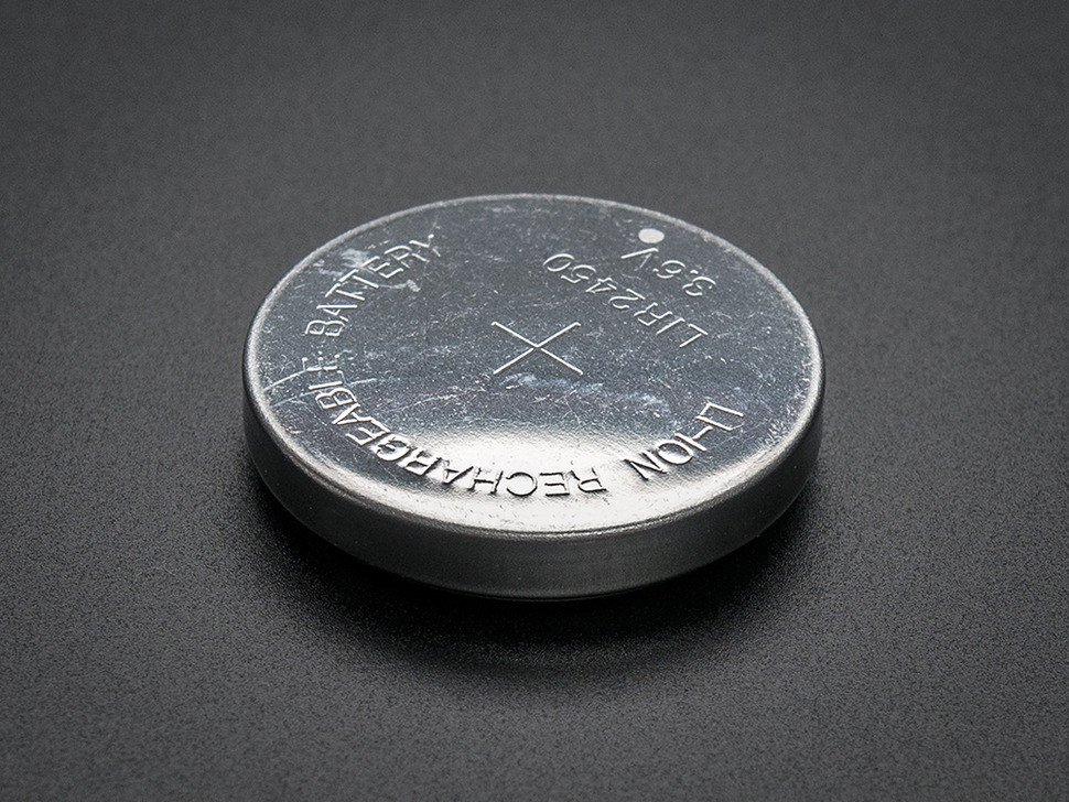 Angle of large Li-Ion rechargeable coin battery