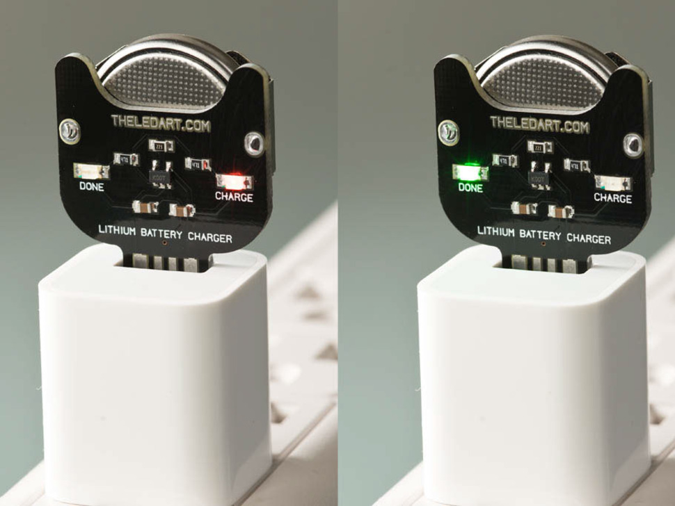 Lithium Ion Coin Cell Charger