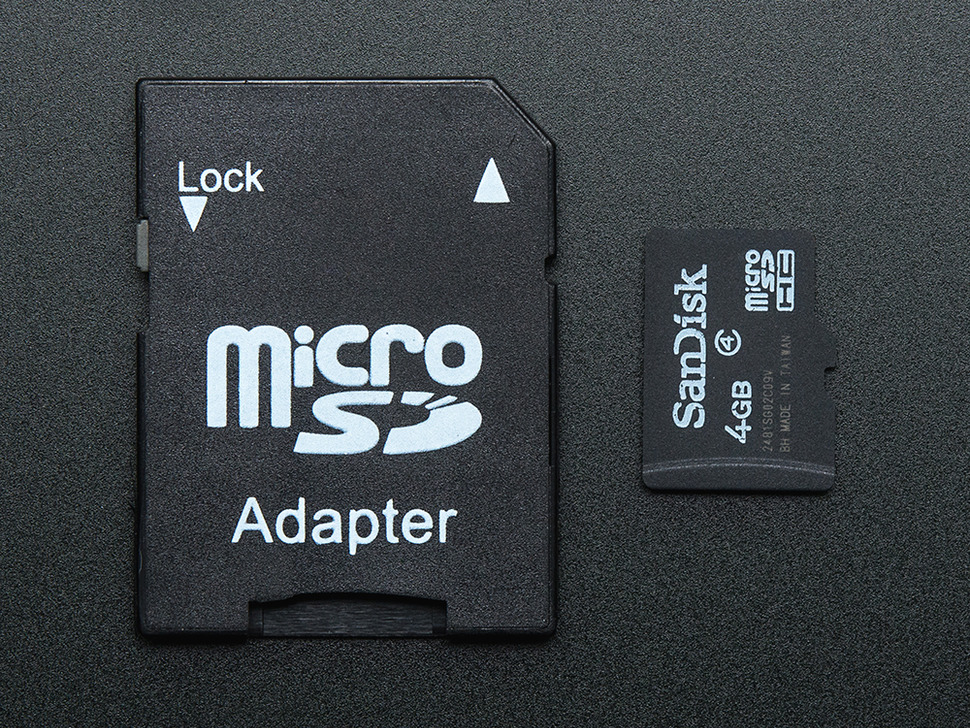 4GB Card with NOOBS Lite 1.4