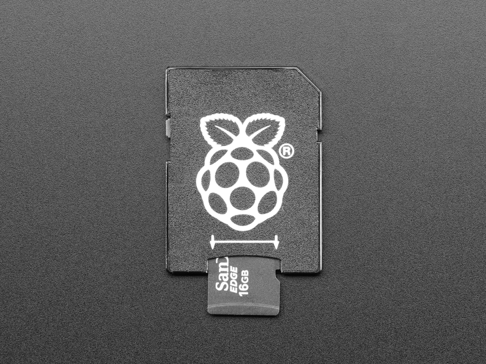 Micro SD card going into Raspberry Pi SD Adapter