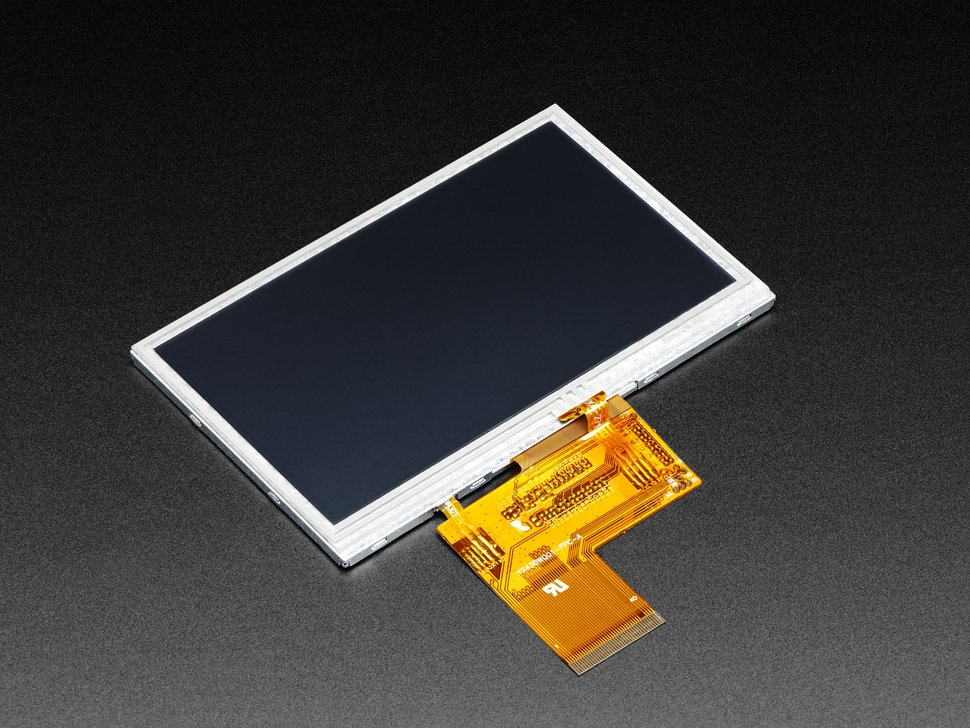 Bare rectangular TFT display with flex connector