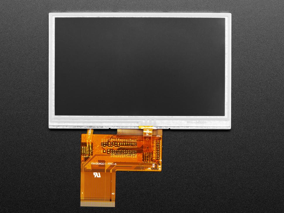 Front of unlit TFT screen