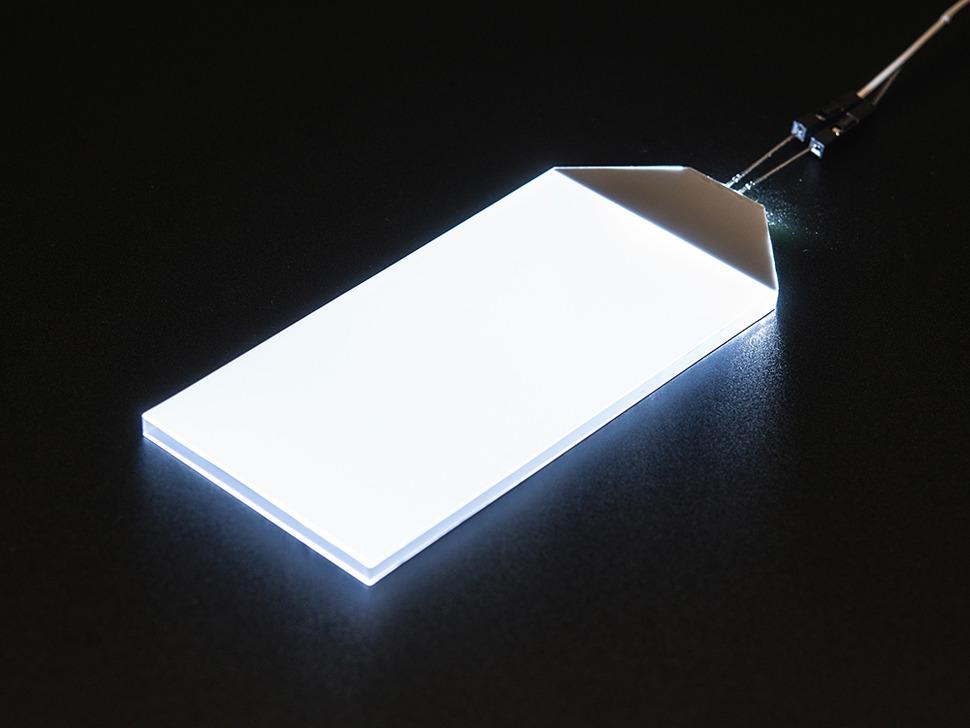 Large rectangular glowing LED