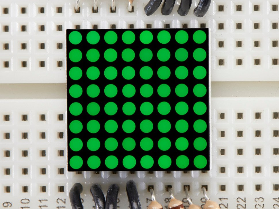 Miniature 8x8 Green Led Matrix.