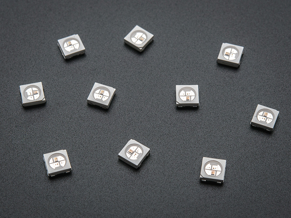 NeoPixel 5050 RGB LED with Integrated Driver Chip - 10 Pack