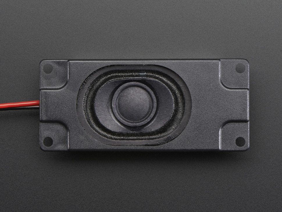 Top down detail of one speaker