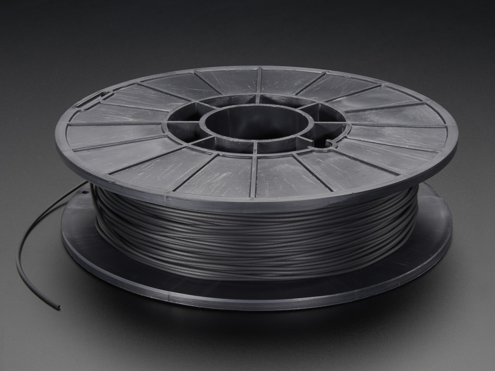 Spool of NinjaFlex Filament for 3D Printers - midnight black color with 1.75mm Diameter.