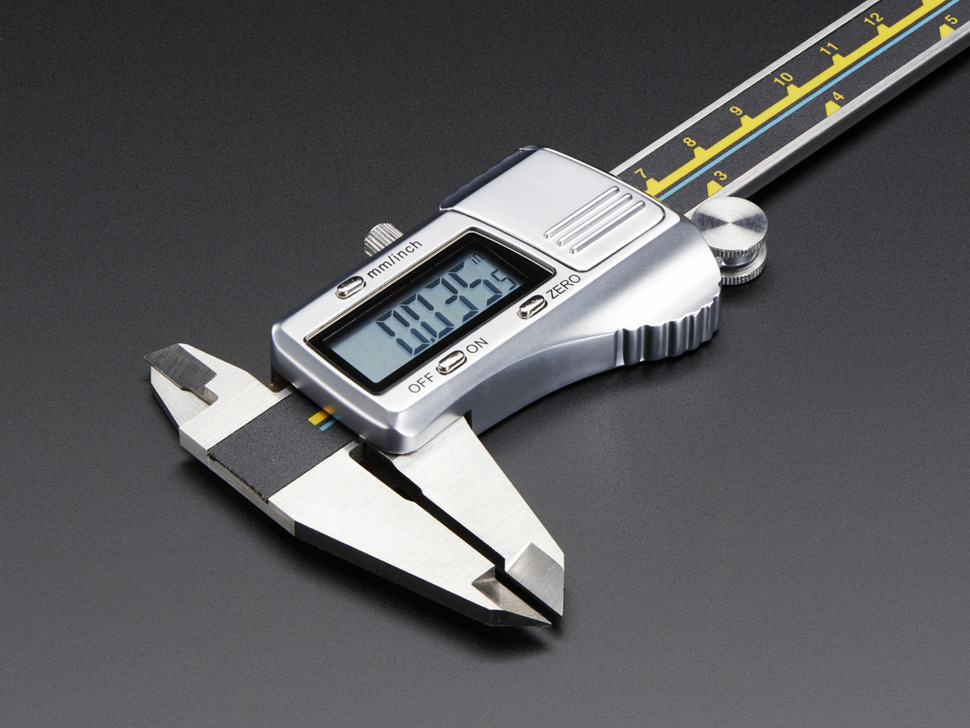 Digital Stainless Steel Calipers showing measurement in inches