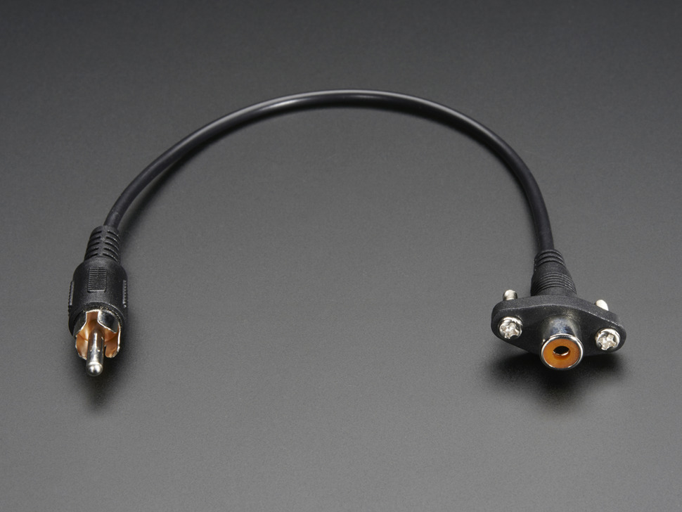 Panel Mount RCA (Composite Video, Audio) Cable