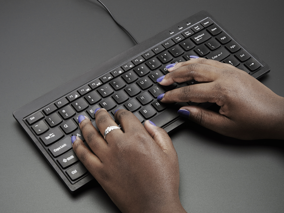 Mini Chiclet Keyboard - USB Wired - Black