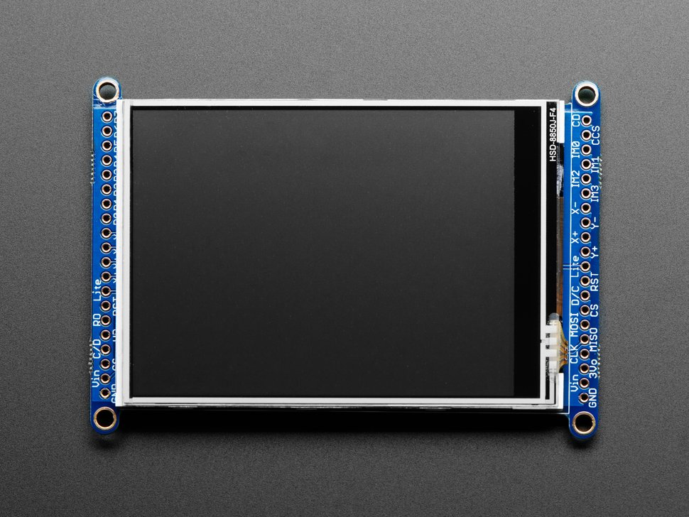 "3.2"" TFT LCD with Touchscreen Breakout Board w/MicroSD Socket - ILI9341"