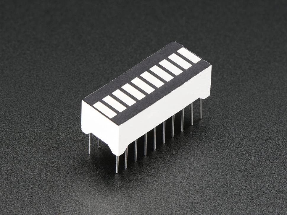 Angle shot of bargraph LED module