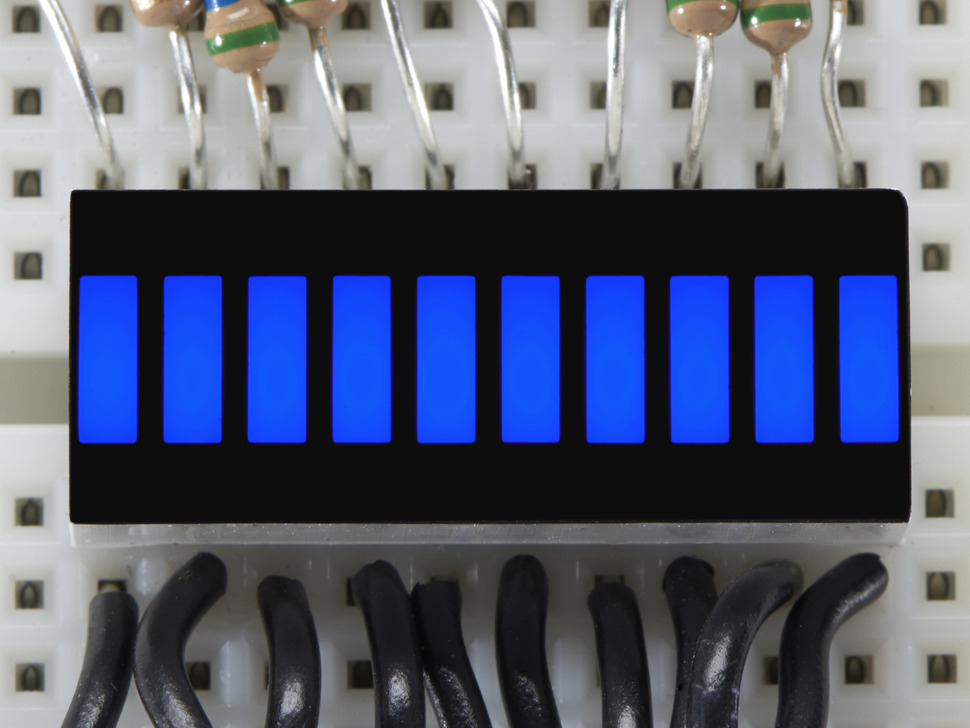 10 Segment Light Bar Graph LED Display - Blue - KWL-R1025BB