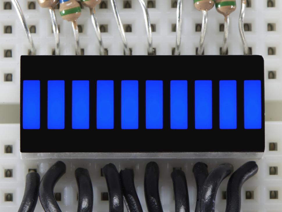Blue Lit up 10 Segment Light Bar Graph LED Display
