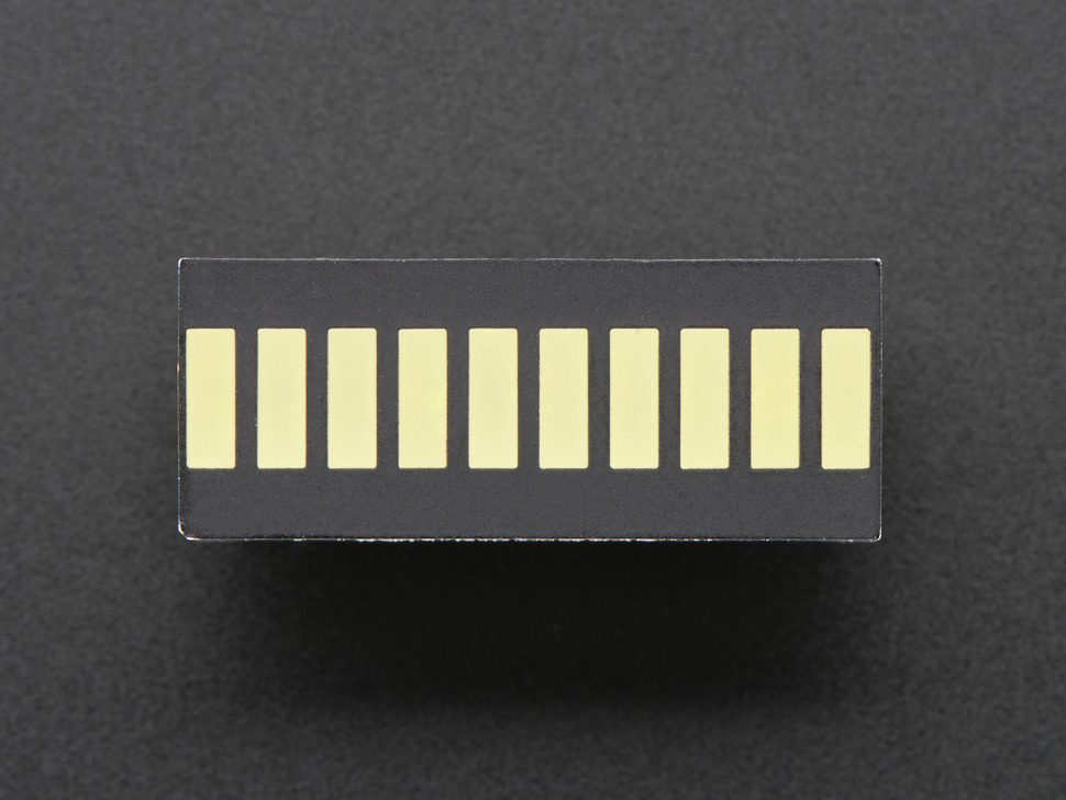 10 Segment Light Bar Graph LED Display - White - KWL-R1025WB-Y