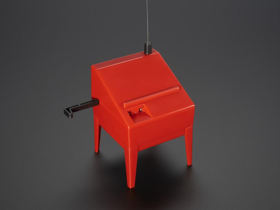 Angled shot of assembled Mini-Theremin Kit.
