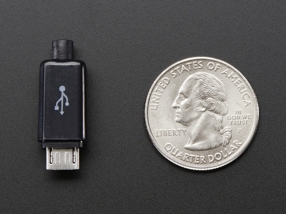 USB DIY Slim Connector Shell - MicroB Plug