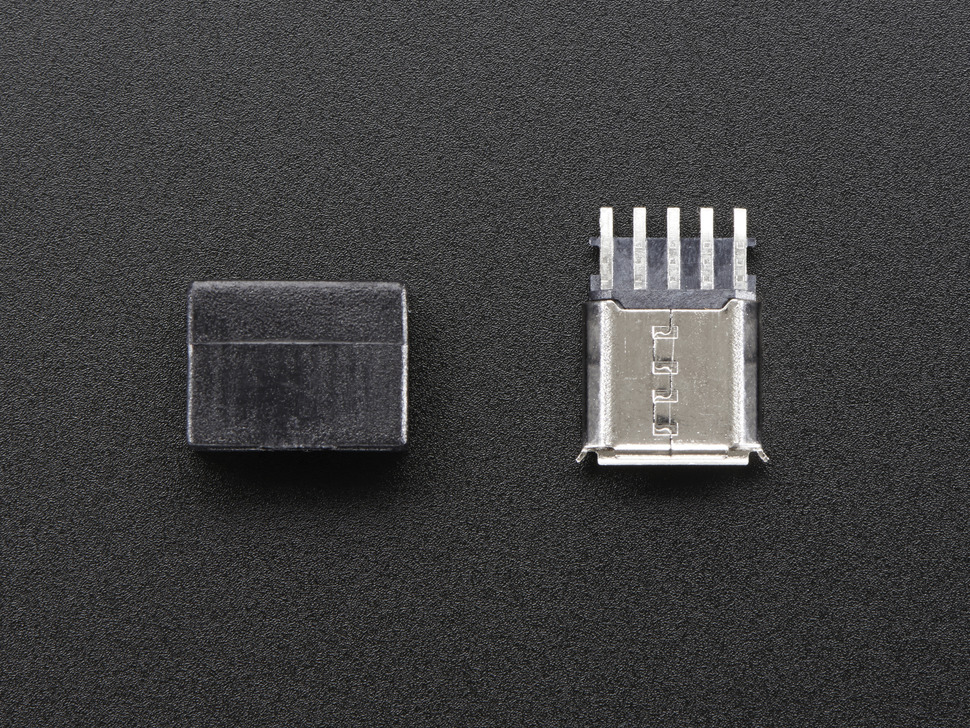 USB DIY Connector - MicroB Female Plug