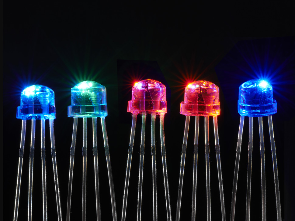 NeoPixel Clear 5mm Through-Hole LED - 5 Pack
