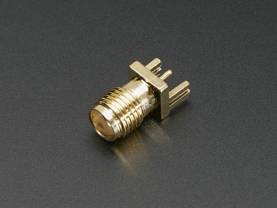 "Edge-Launch SMA Connector for 0.8mm / 0.031"" Slim PCBs"