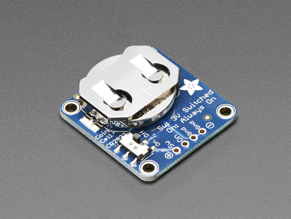 20mm Coin Cell Breakout w/On-Off Switch (CR2032)