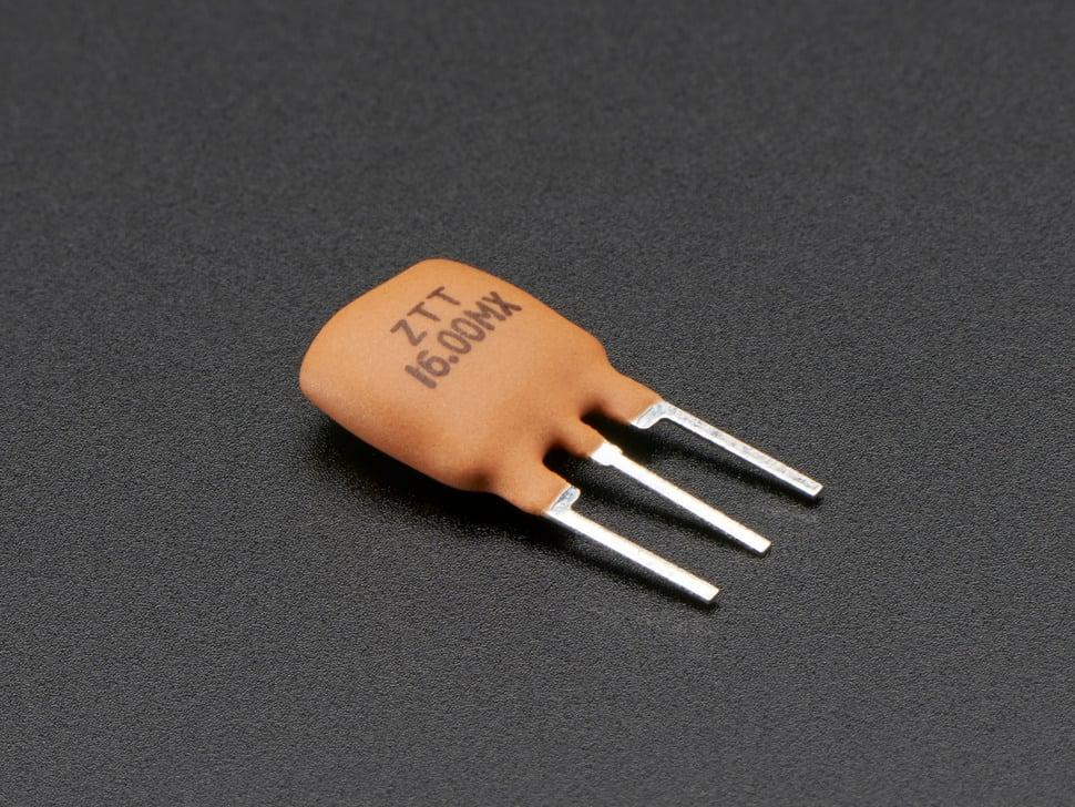 Three pin 16 MHz Ceramic Resonator