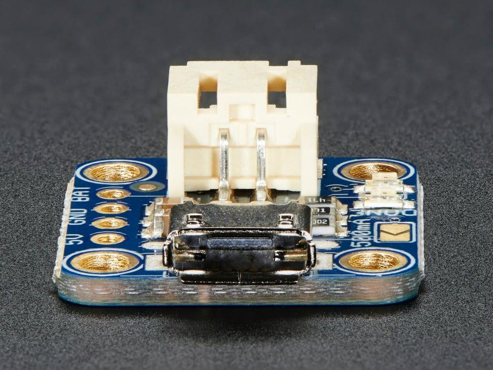 Adafruit Micro-Lipo Charger for LiPo/LiIon Batt w/MicroUSB Jack - v1