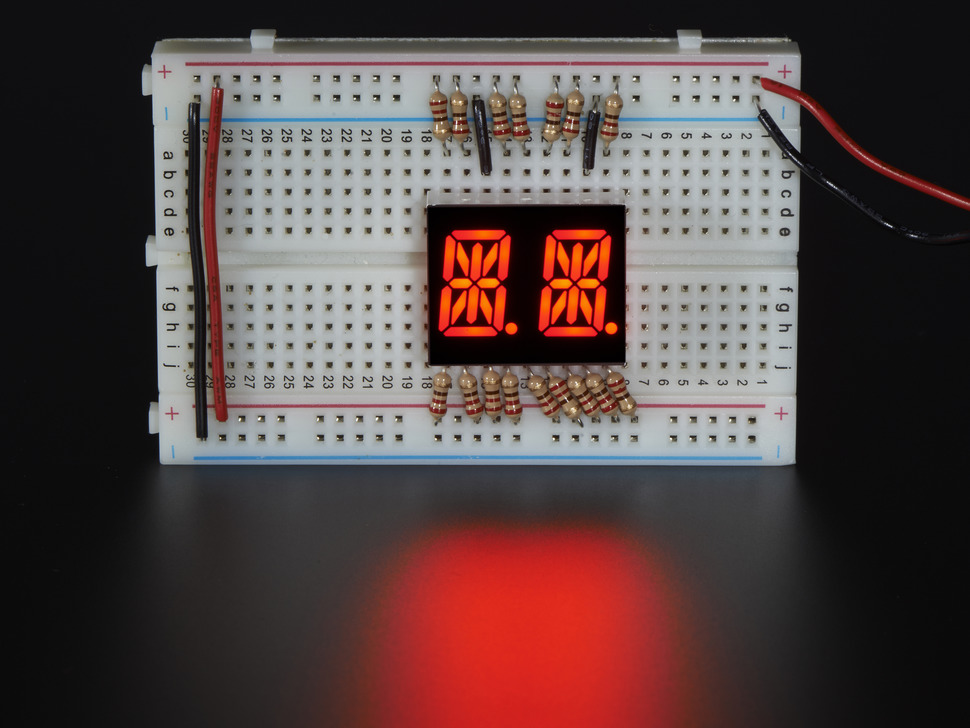 "Dual Alphanumeric Display - Red 0.54"" Digit Height - Pack of 2"