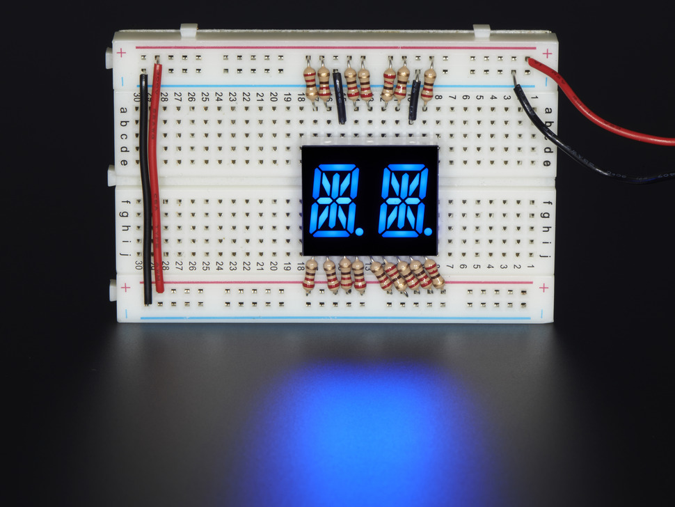 "Dual Alphanumeric Display - Blue 0.54"" Digit Height - Pack of 2"
