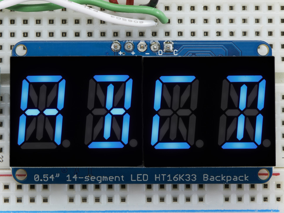 Quad Alphanumeric Display - Blue 0.54