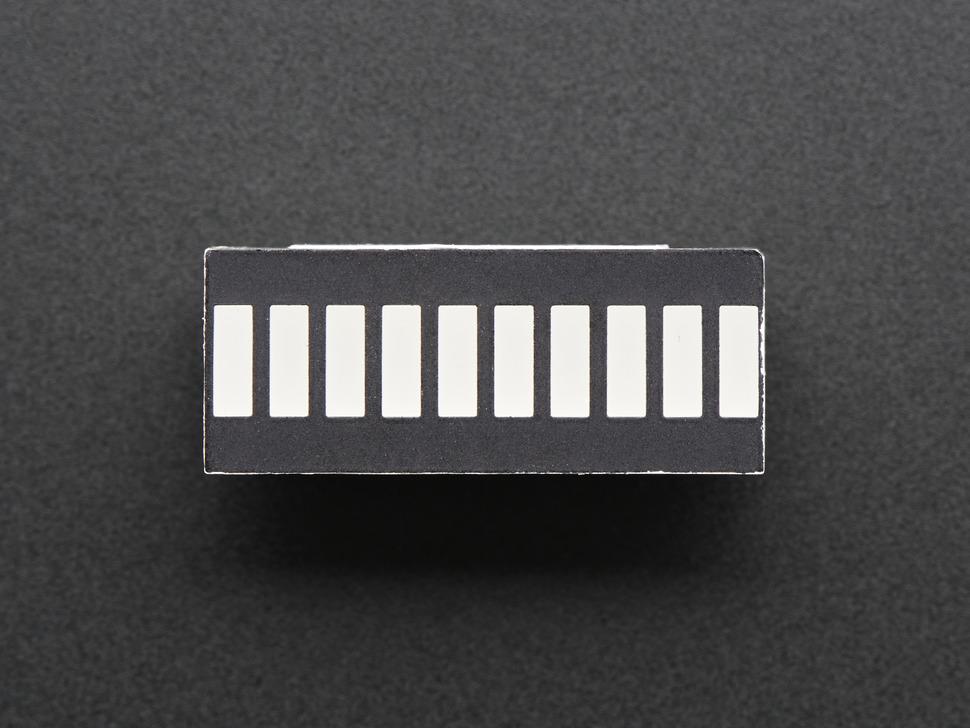 10 Segment Light Bar Graph LED Display - Yellow