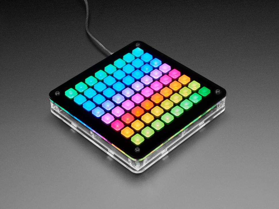 Adafruit UNTZtrument! Open-Source 8x8 Grid Controller Kit - 8x8 White LEDs