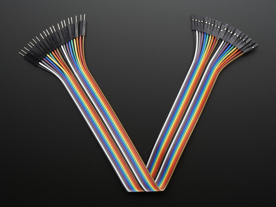 Premium Female/Male 'Extension' Jumper Wires - 20 x 12""