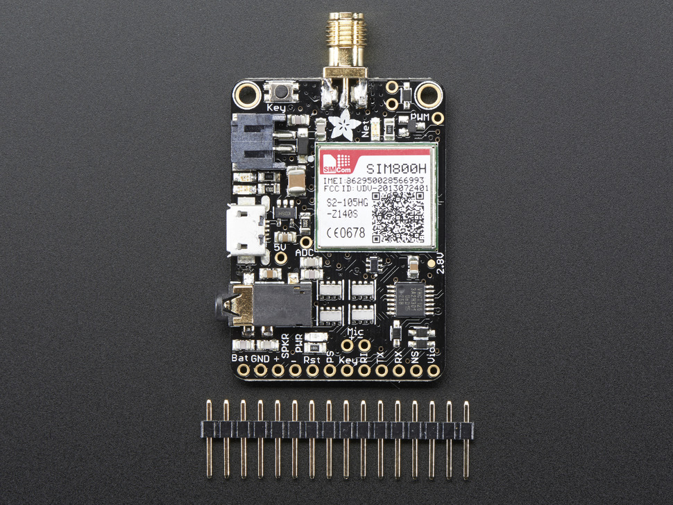 Adafruit FONA - Mini Cellular GSM Breakout - SMA Version - v1