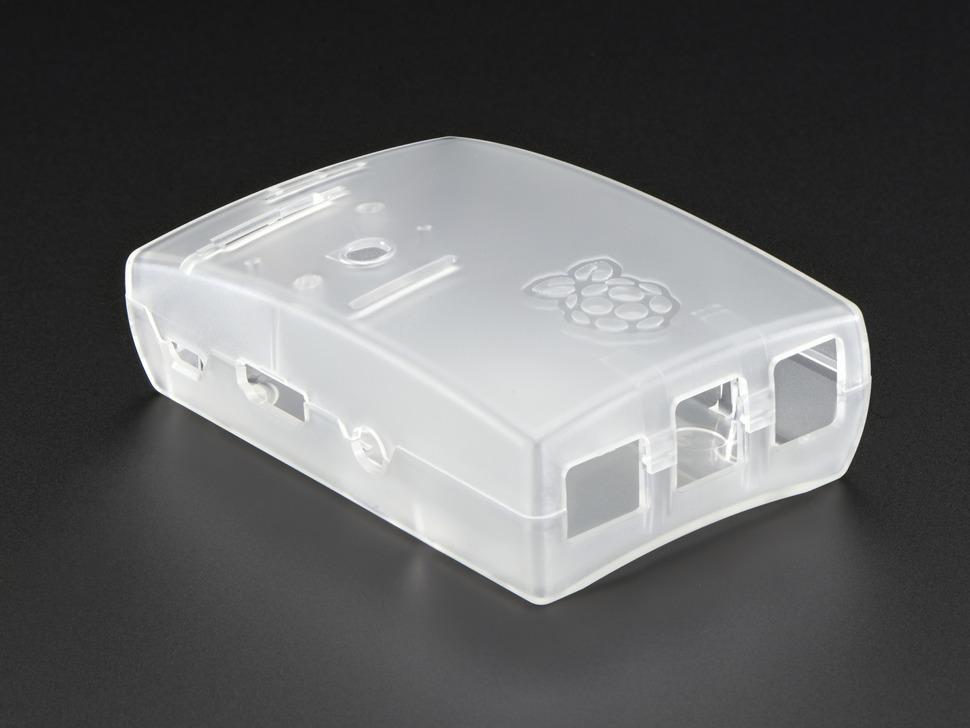 Raspberry Pi B+ / Pi 2 / Pi 3 Frosted White Enclosure