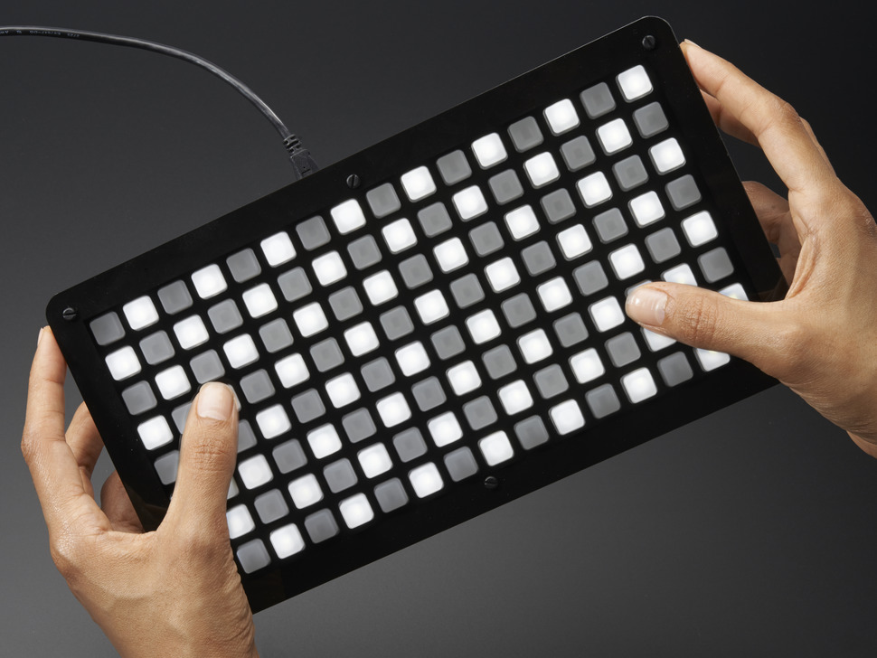 Adafruit HELLA UNTZtrument! Open-Source 16x8 Grid Controller Kit - White LEDs