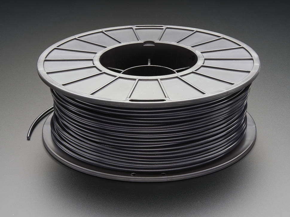 PLA Filament for 3D Printers - 3mm Diameter - Black - 1KG