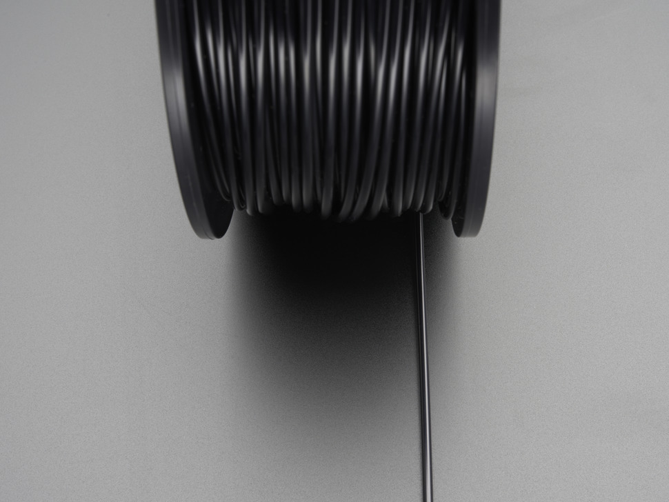 ABS Filament for 3D Printers - 1.75mm Diameter - Black - 1KG