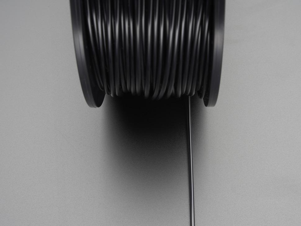 ABS Filament for 3D Printers - 3mm Diameter - Black - 1KG