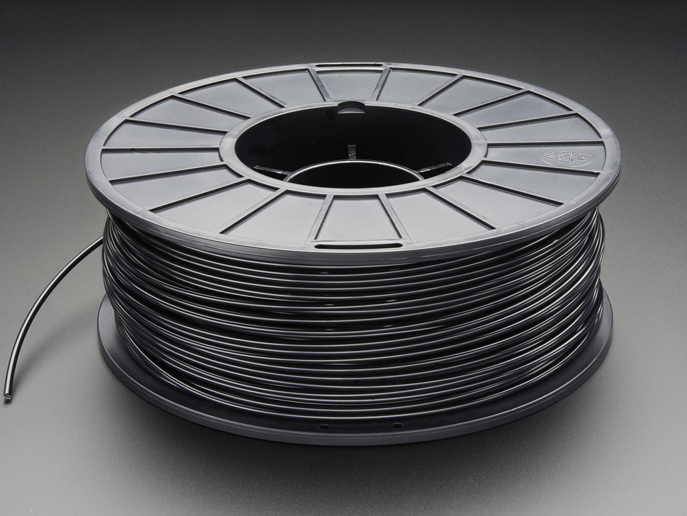 ABS Filament for 3D Printers - 3mm Diameter - Black - 1KG
