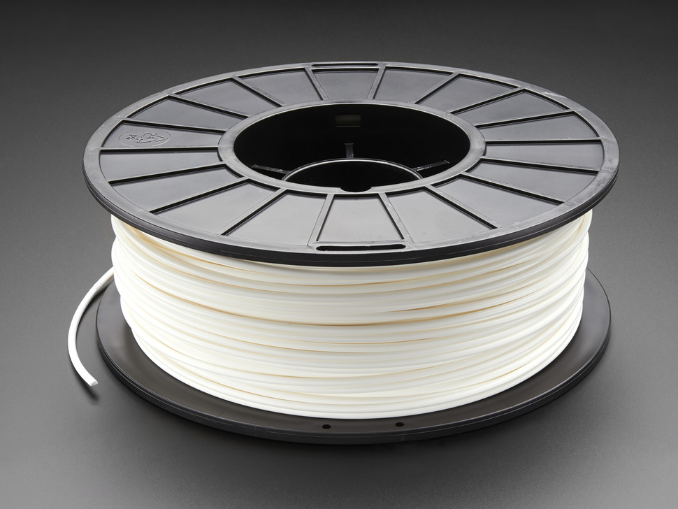 PLA Filament for 3D Printers - 3mm Diameter - White - 1KG