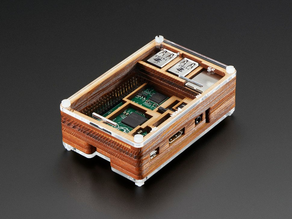 Timber Pibow - Enclosure for Raspberry Pi Model B+ Computers