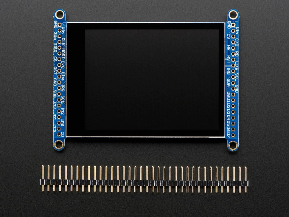 "2.8"" TFT LCD with Cap Touch Breakout Board w/MicroSD Socket"
