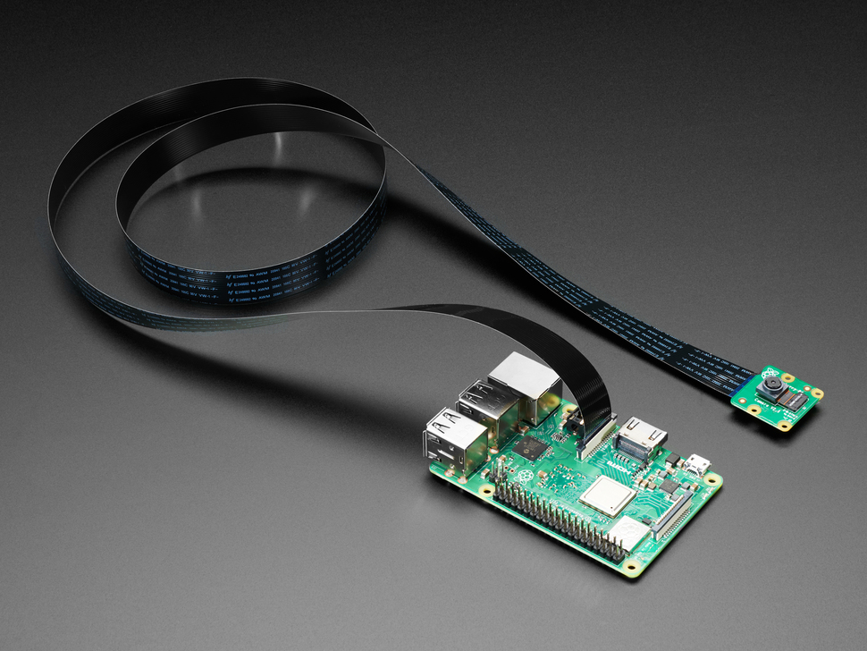 Flex Cable for Raspberry Pi Camera or Display - 1 meter