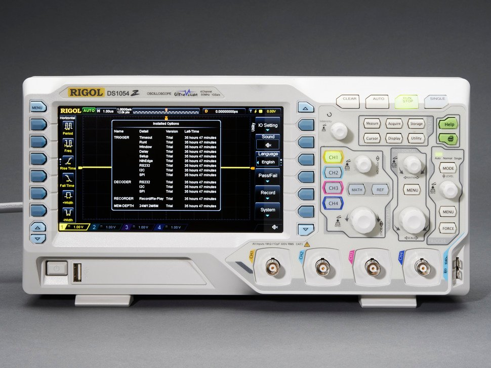 1 GS/s 50 MHz 4-channel Digital Oscilloscope - Rigol DS1054Z - Rigol DS1054Z