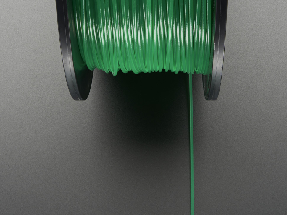 PLA Filament for 3D Printers - 1.75mm Diameter - Green - 1KG