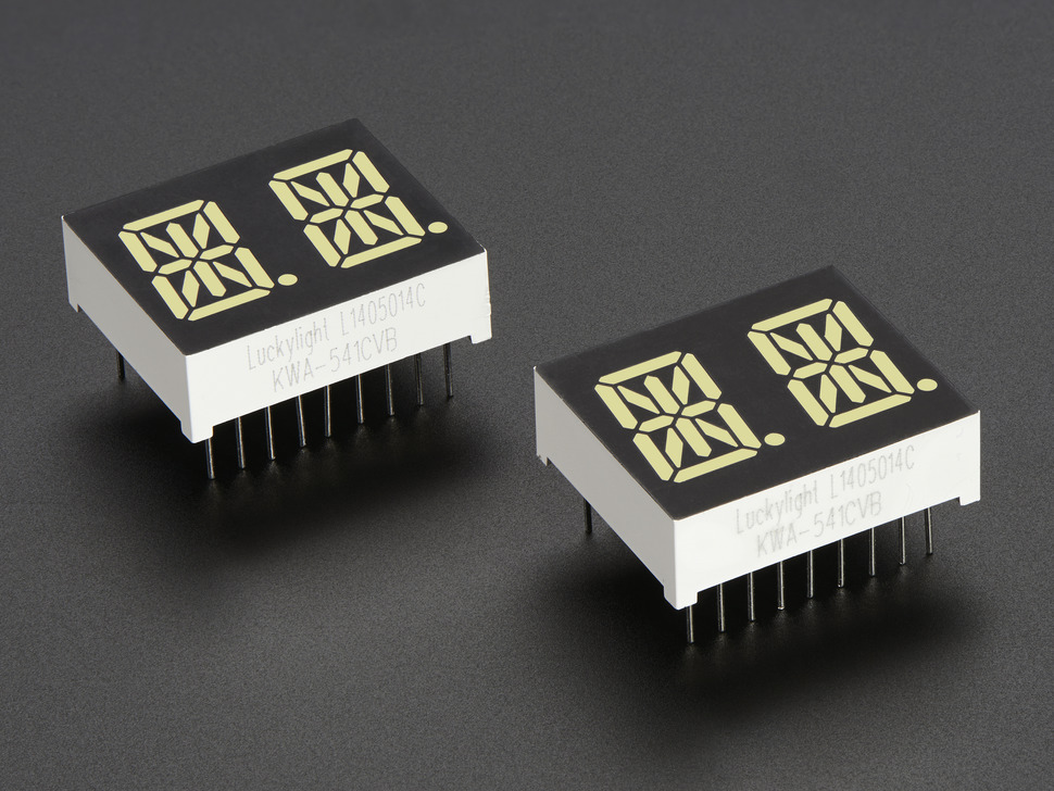 Angled shot of two dual-digit modules
