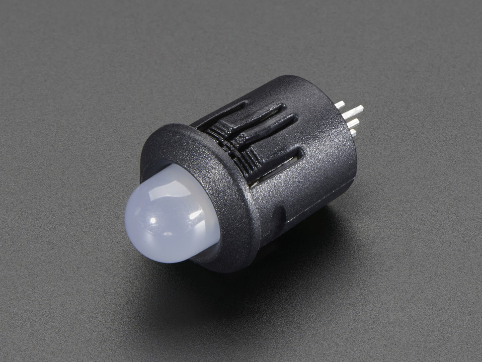 8mm Plastic Bevel LED Holder - Pack of 5