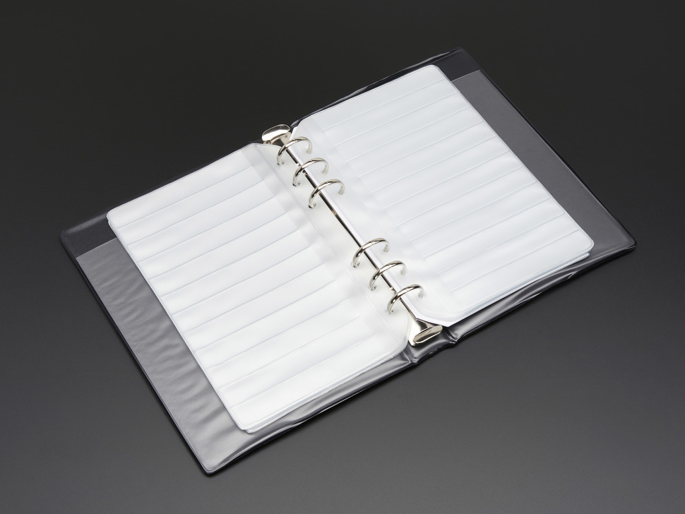 Blank SMT Storage Pages for 12 strips of 8mm Tape - 5 Pages